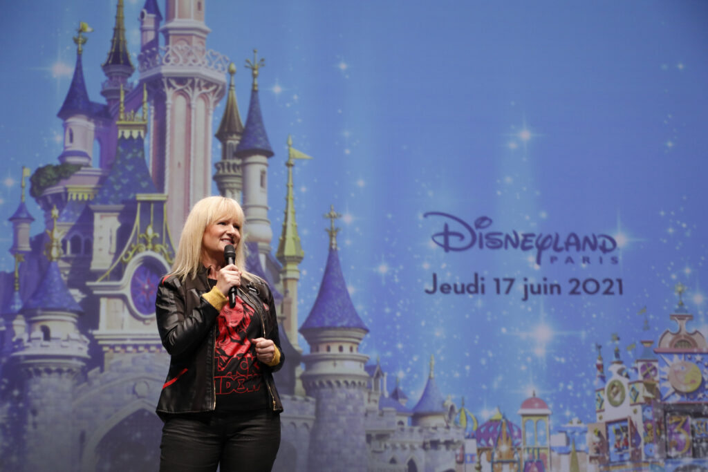 Natacha Rafalski welcomes guests back to Disneyland Paris once again for its second re-opening
