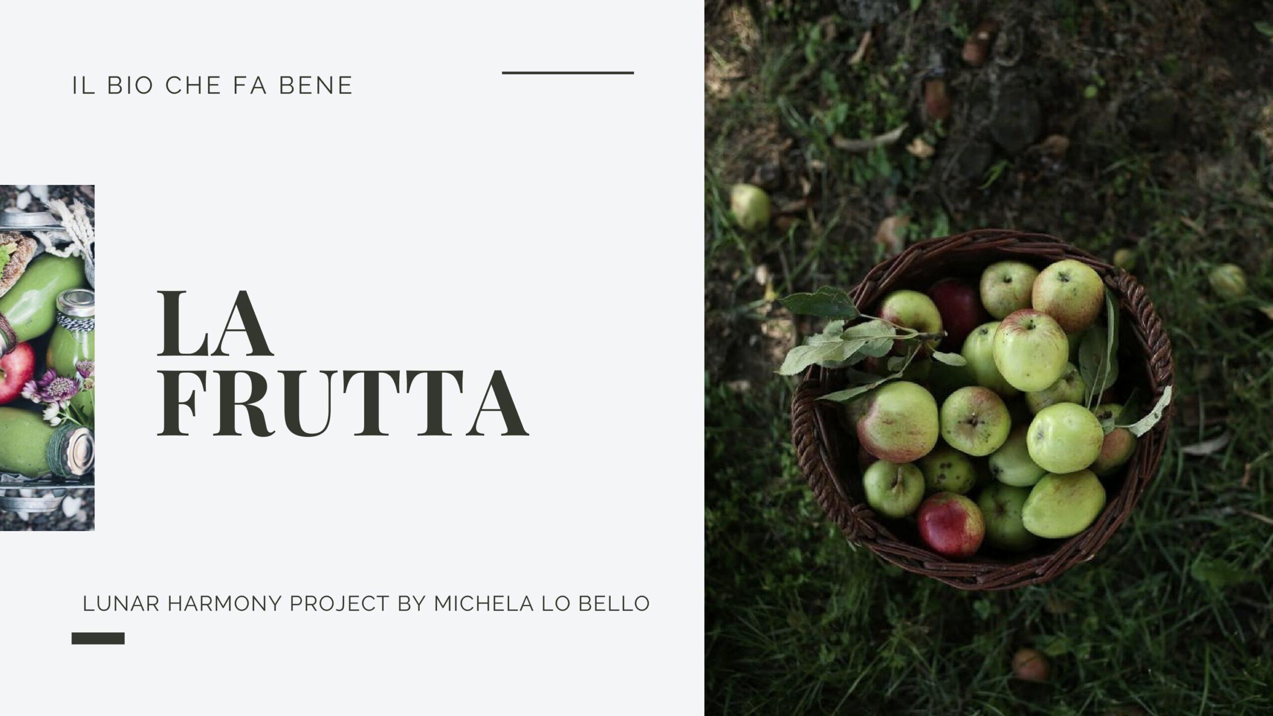 Frutta bio per centrifuga