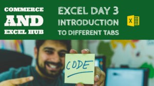 Excel Introduction to different tabs