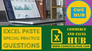 Excel paste special sample practice questions