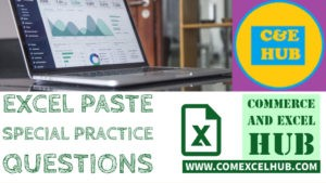 Paste special practice questions in Excel