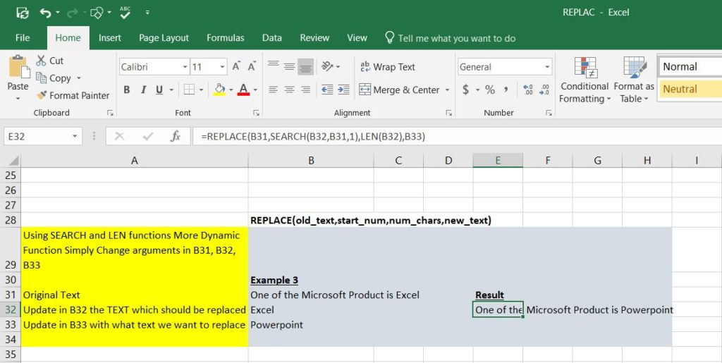 How to use REPLACE function in Excel with Examples