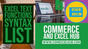 Excel TEXT Functions syntax