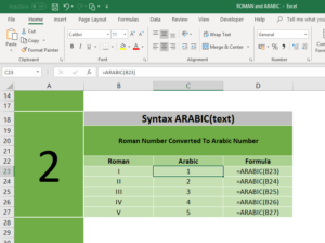 How to convert Roman Numbers to Normal Numbers in Excel