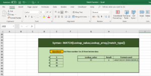 How to use Excel Match Function