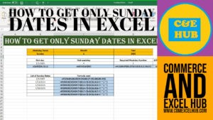 how to Use Excel Weekday function