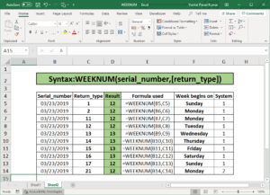excel convert date to week number and year