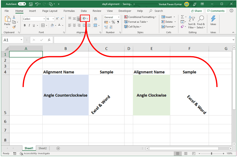 Excel Beginners Tutorial how many ways we change excel alignment