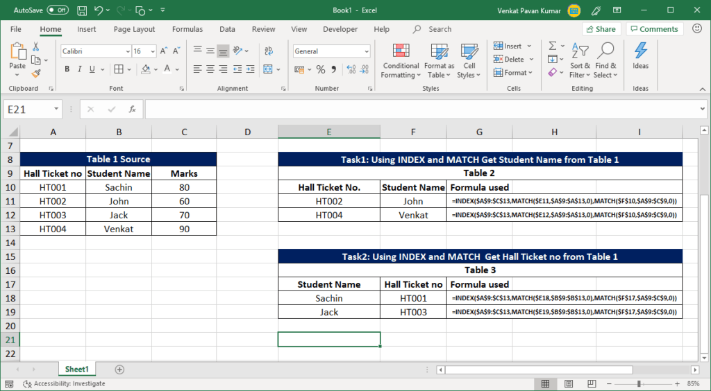 match function excel vlookup function in excel
