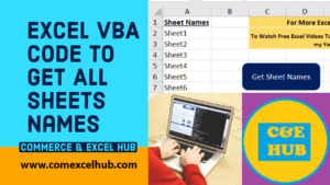 Excel VBA Code to Get All Sheets Names