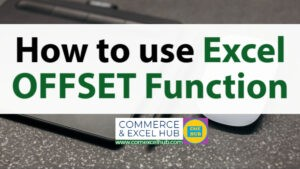 How to use Excel OFFSET function