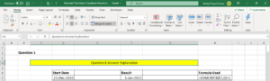 Excel EOMONTH function