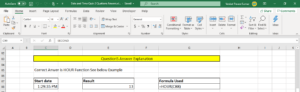 How to Use Hour Function in Excel