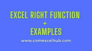 How to use Excel RIGHT Function