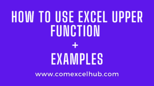 How to make capital letters in excel