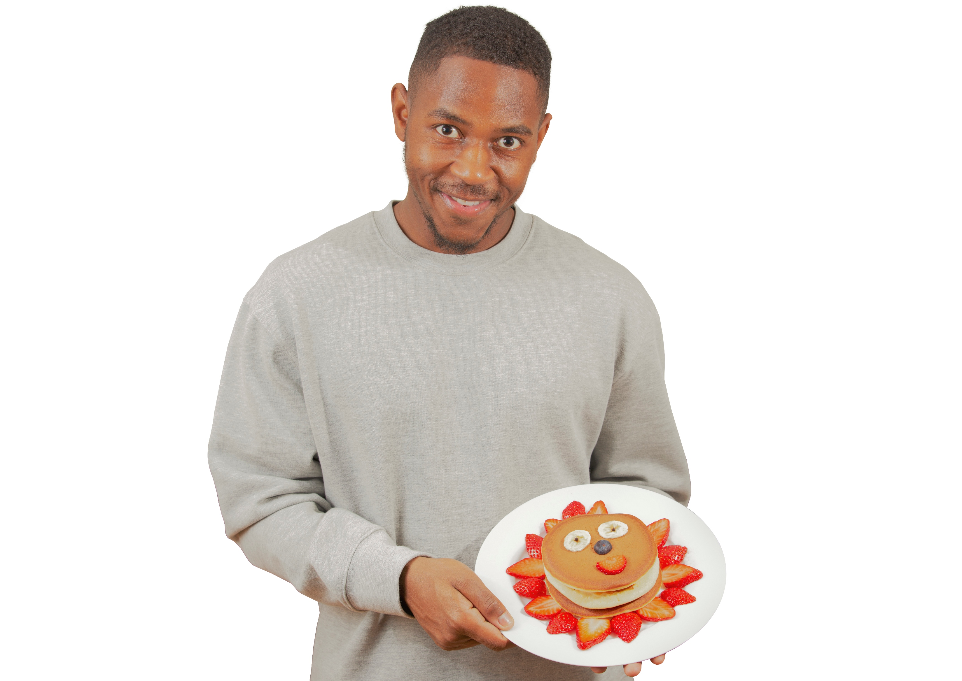 Man holding Crepes and Pancakes