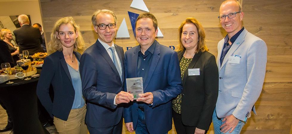 Hilde de Boer (City of Leiden), Chris van Voorden (InnovationQuarter), Henk Deist (Atterbury Europe), Annemieke Busch (NFIA) and Arnoud Nierop (City of Leiden)
