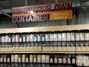 MOM's Organic Market bulk section Bring Your Own Container