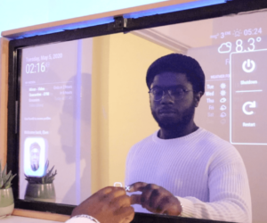 Smart Mirror Touchscreen - Interacting with Face Recognition