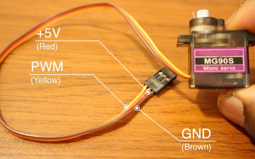 Smart CCTV Camera - servo motor configuration