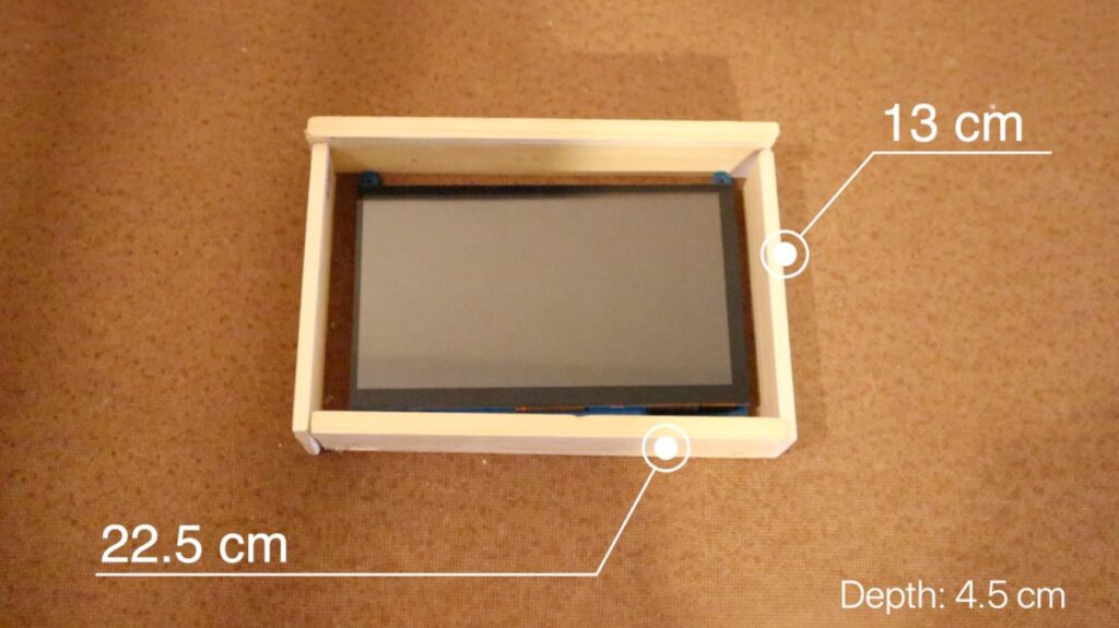 Construction of the Smart CCTV display monitor
