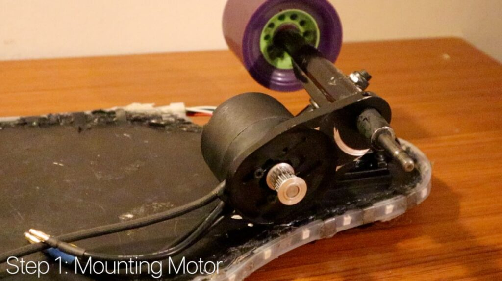 DIY Electric Skateboard - Pulley and Motor