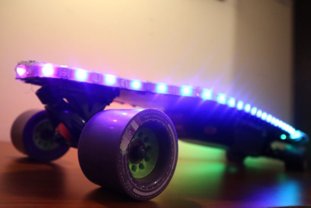 DIY Electric Skateboard - RGB LED