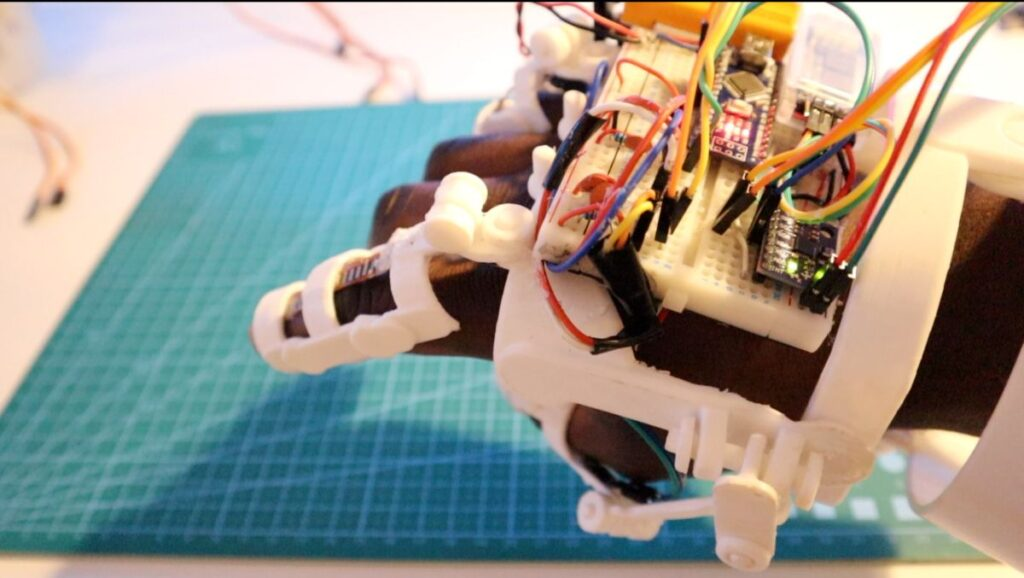 robotic arm electronic glove