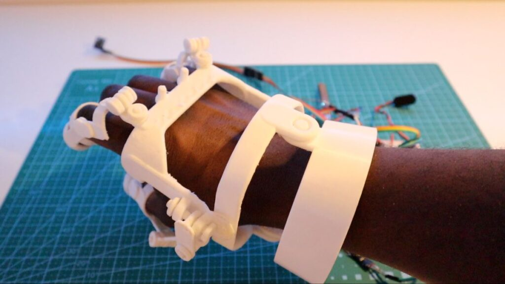 robotic arm glove 3d print