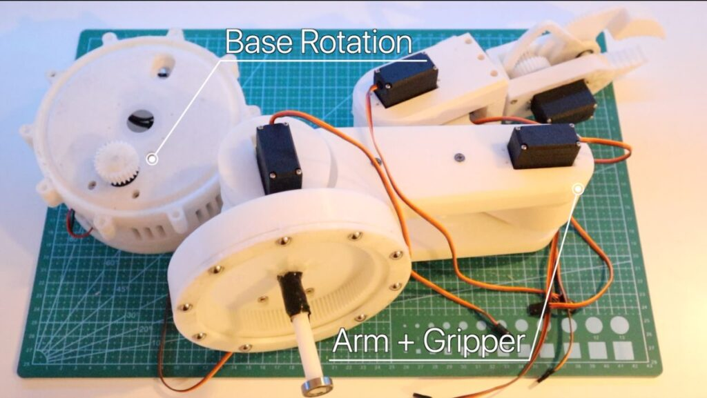 robotic arm main parts