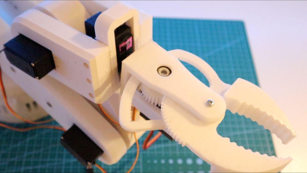 robotic arm top close up