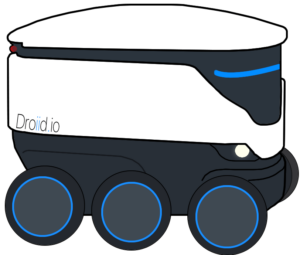 droiid delivery robot logo