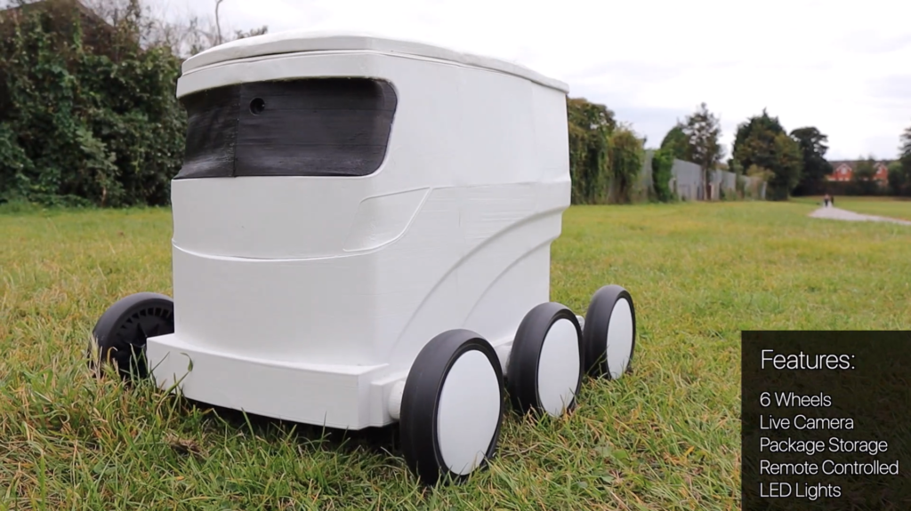 delivery robot green field