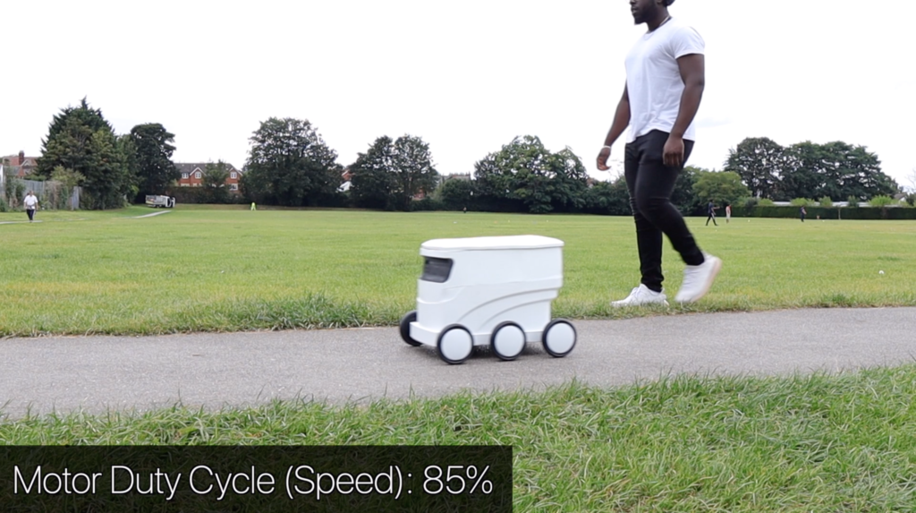 delivery robot speed slow