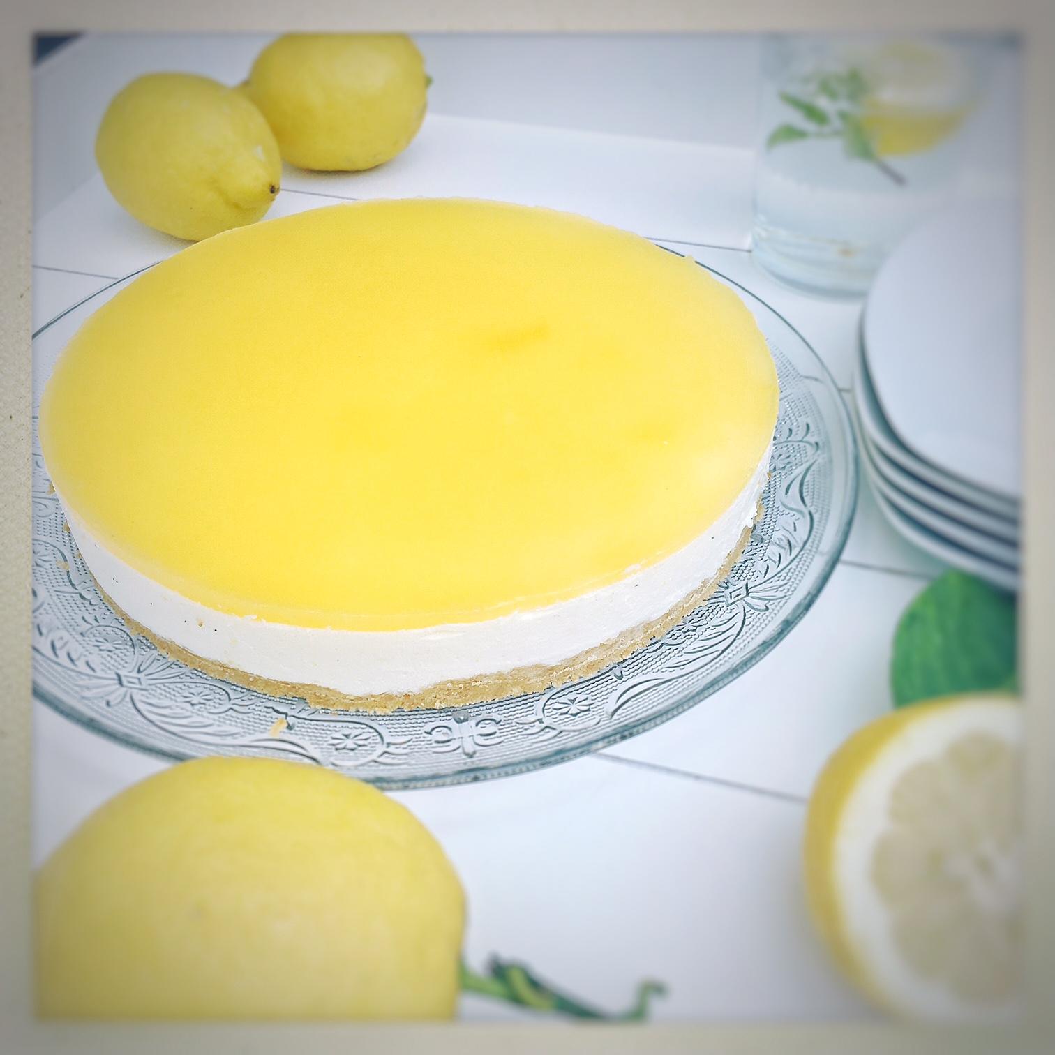 cheese cake, no bake, Lemon, Zitronen, Tarte