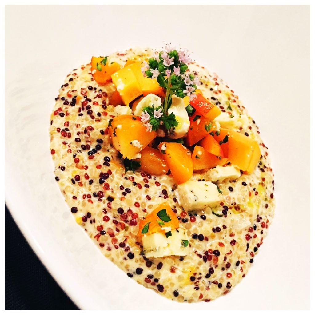 Quinoa, RIsotto, Aprikosen, Gorgonzola, foodwerk.ch
