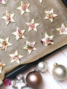 Blätterteig Sterne als Weihnachtssnack oder Apero