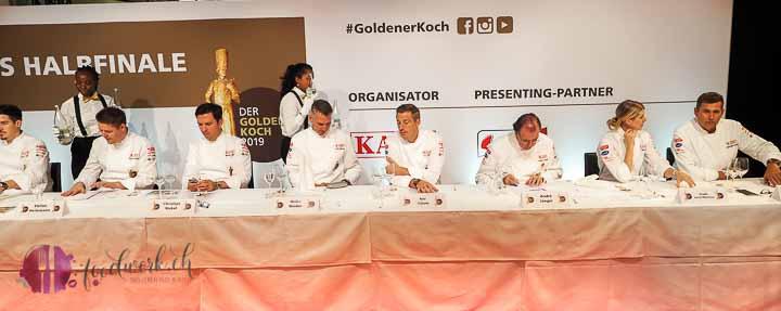 Die Jury im Halbfinale des goldenen Koch