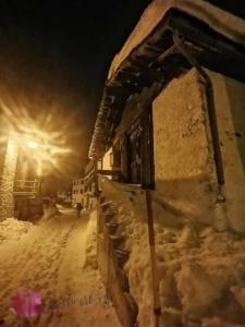 Bivio versinkt im Schnee