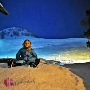 Liv auf Schnee in Bivio nach cinema stalla