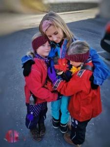 Liv mit Twins am Colanda Mars