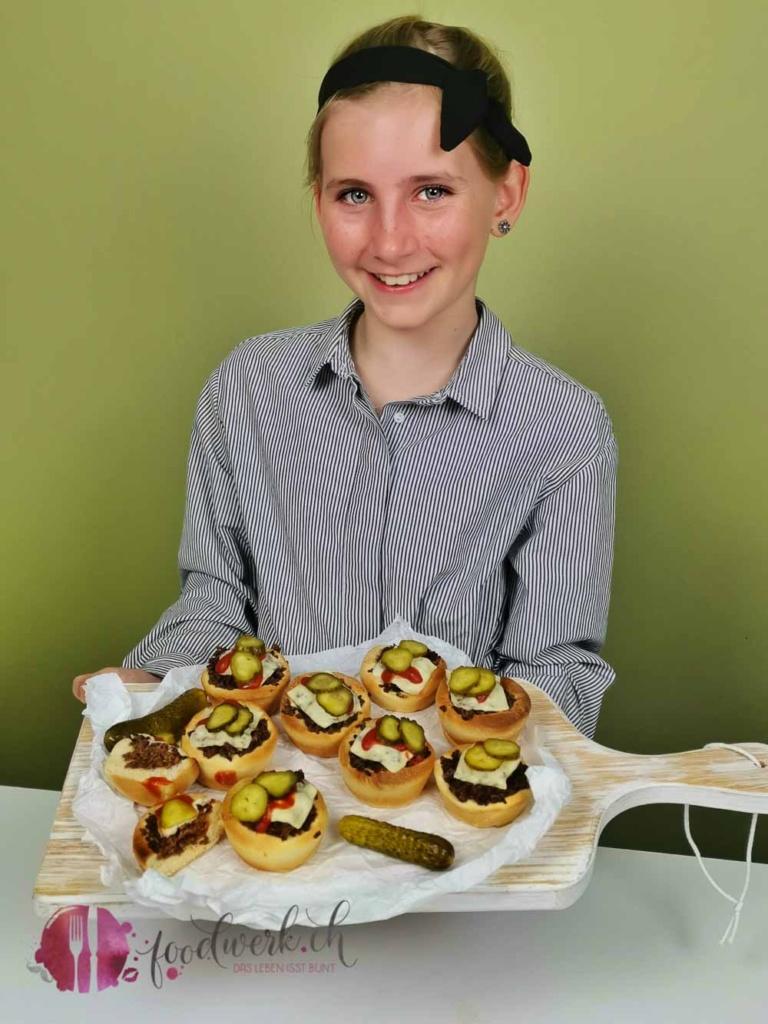 Liv präsentiert die burger Muffin