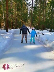 Skateline Albula Tobi und Liv