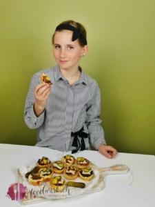 probieren vom burger Muffin