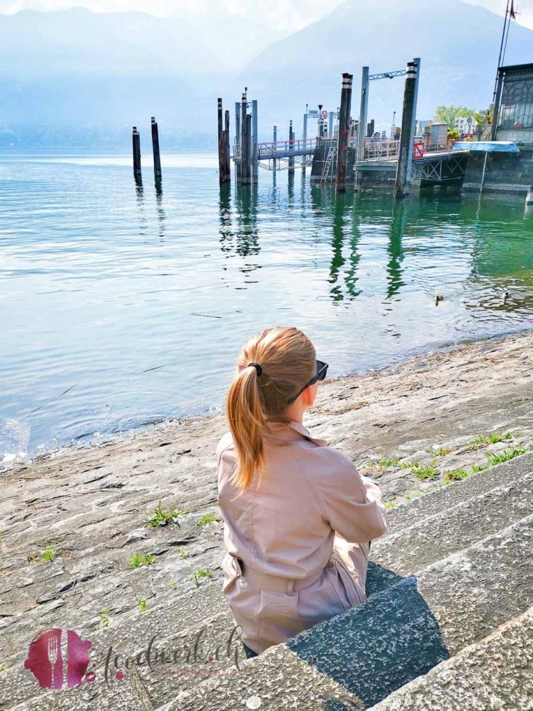 Liv beim Hafen Locarno
