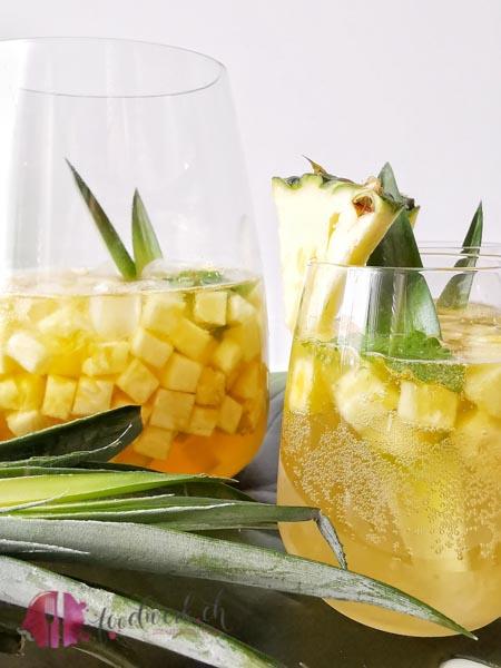 Ananas Rimuss fresh Bowle