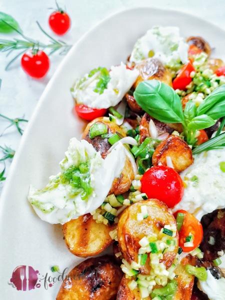 Grill Kartoffel Salat auf Platte