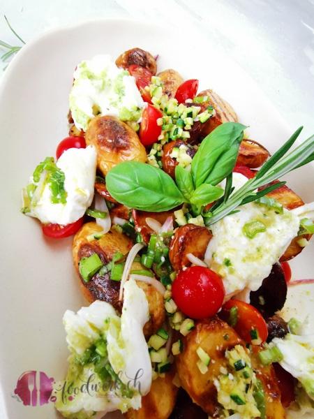 Kartoffelsalat vom Grill mit Burrata