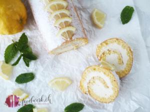 Roulade und Zitronen von oben