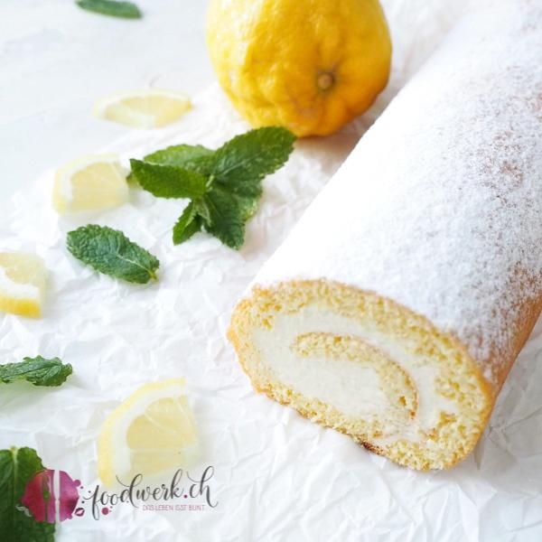 Zitronen Roulade